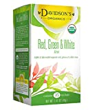 Davidson's Tea Red, Green & White Blend, 25-Count Tea Bags, 1.41 Oz (Pack of 6)