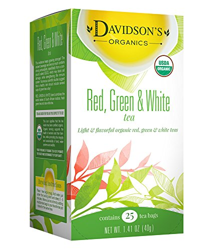 Davidson's Tea Red, Green & White Blend, 25-Count Tea Bags, 1.41 Oz (Pack of 6) by Davidson's Tea