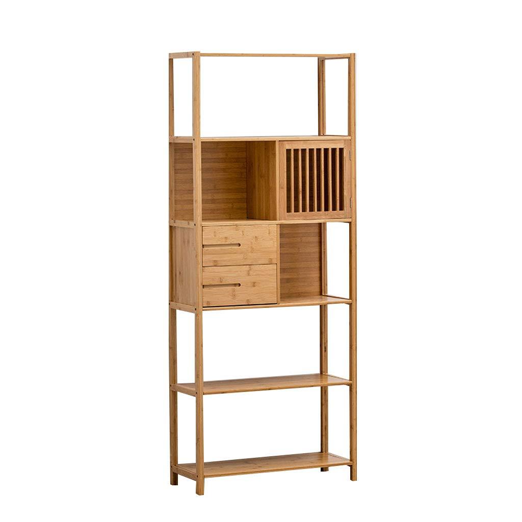 オープンシェルフラック シンプルな近代的な本棚の着陸居間ソリッドウッドシェルフスペース節約家庭用クリエイティブ書棚71 * 28 * 173cm (Color : Wood color, Size : B) B07STBJYKX Wood color B