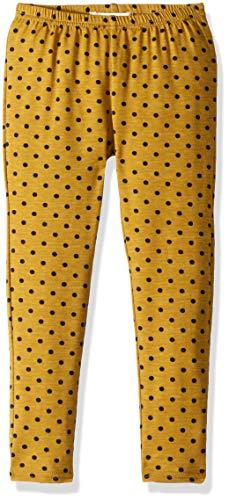Siaomimi Girls' Chartreuse Dot Leggings, 5