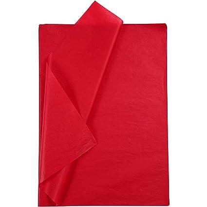 50 x 70 cm Rot 30 Blatt Seidenpapier