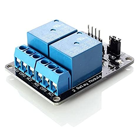 neuftech de 2CH 5V 2canales Módulo de relé de tabla para Arduino PIC AVR DSP MCU Módulo de relé Generika 101-70-100