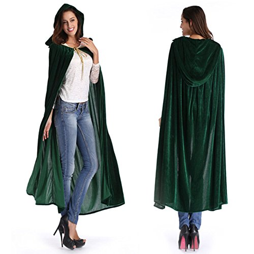 [Fanala Women Men Halloween Witch Cloaks Long Hood and Capes Cosplay Costumes Big Sales] (Easy Halloween Costume To Wear To Work)