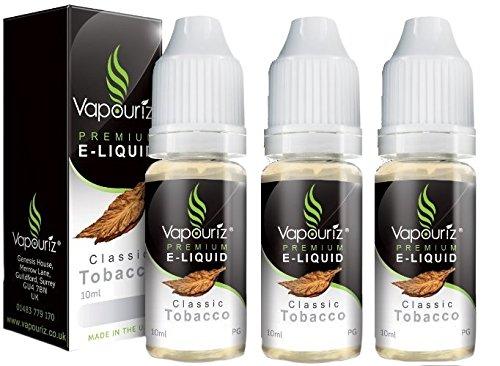 Vapouriz Premium E Liquid x3 10ml (TRIPPLE PACK) Zero 0% Nicotine (Classic...