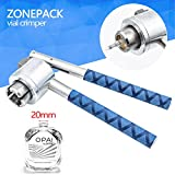 ZONEPACK Perfume Crimper Capping Machine 20mm Stainless Steel Lid Crimper Hand Sealing Machine Manual Gland Pliers Medical Crimper Handle Anti-Skid Perfume Bottle Aluminum Caps (20mm)
