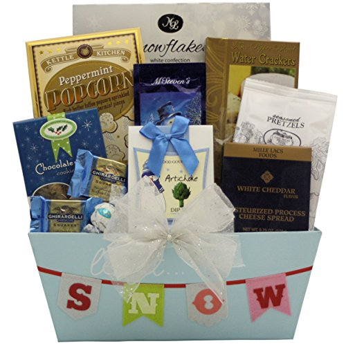 GreatArrivals Winter Wonderland Gourmet Holiday Christmas Gift Basket, 5 Pound