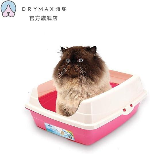 WLLRTRT Inodoro para Gatos- Caja De Arena Semi-Cerrada para Gatos, Artículos para Gatos, Iones De Plata Rosa: Amazon.es: Productos para mascotas