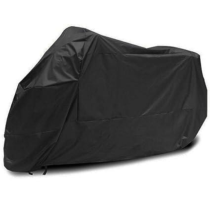 Motorcycle Cover XXL Outdoor UV Protector Motorbike Rain Waterproof Black+Silver