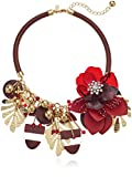 Kate Spade New York Womens Statement Necklace, Red Multi