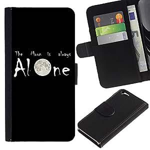 EJOY---La carpeta del tirón la caja de cuero de alta calidad de la PU Caso protector / Apple Iphone 6 / --Luna está siempre solo