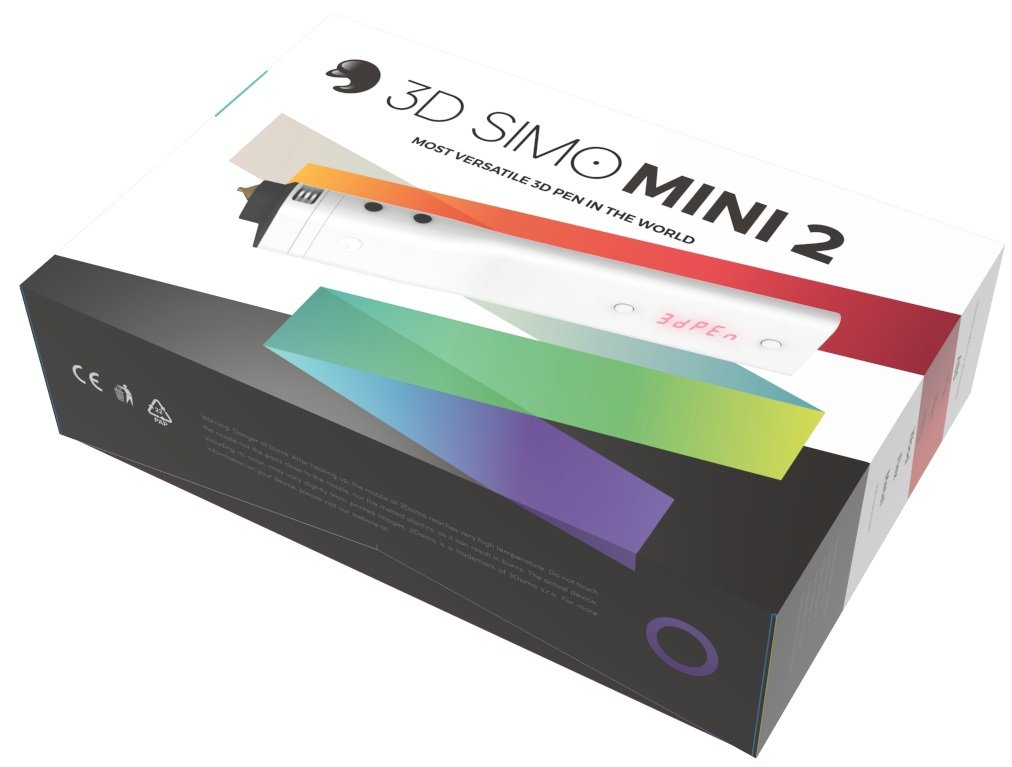 3D Simo Mini 2 3D Drucker-Stift ABS, PLA, Polyamid (PA) / Nylon, PETG, HIPS, Laywood 1.75mm 3Dsimo-mini-2