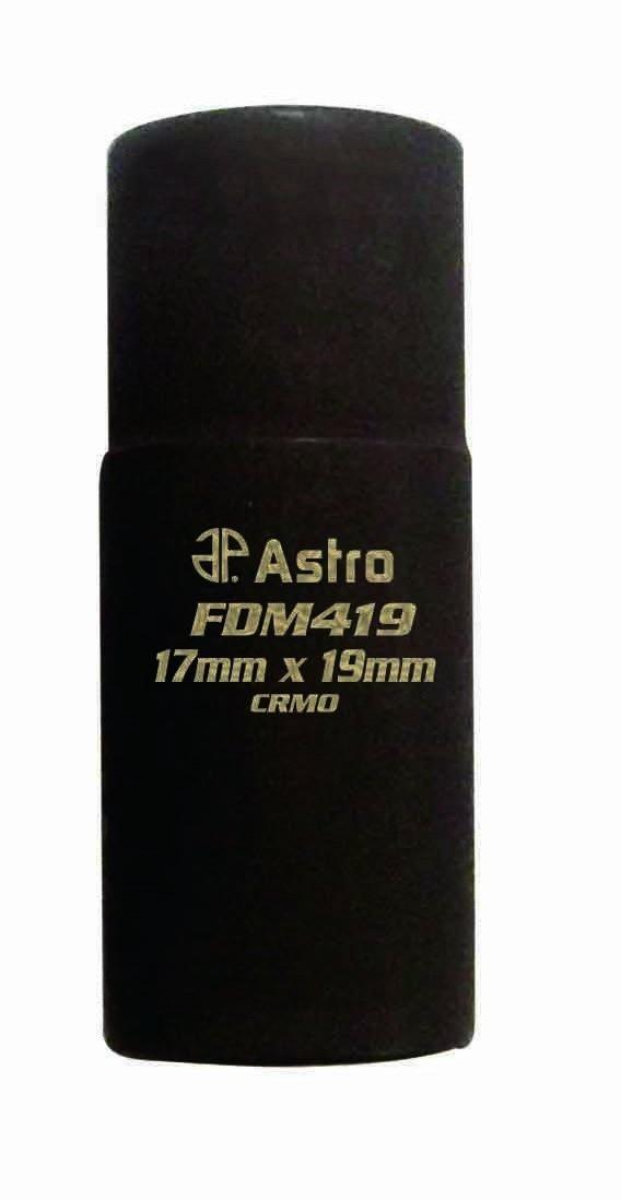 Astro FDM419 1/2-Inch Drive Flip Socket, 17mm x 19mm