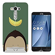 "501 - Cute Monkey Face Banana Funny Design Asus Zenfone 2 ZE500K / Asus Zenfone Laser 5.0"" Fashion Trend CASE Gel Rubber Silicone All Edges Protection Case Cover"