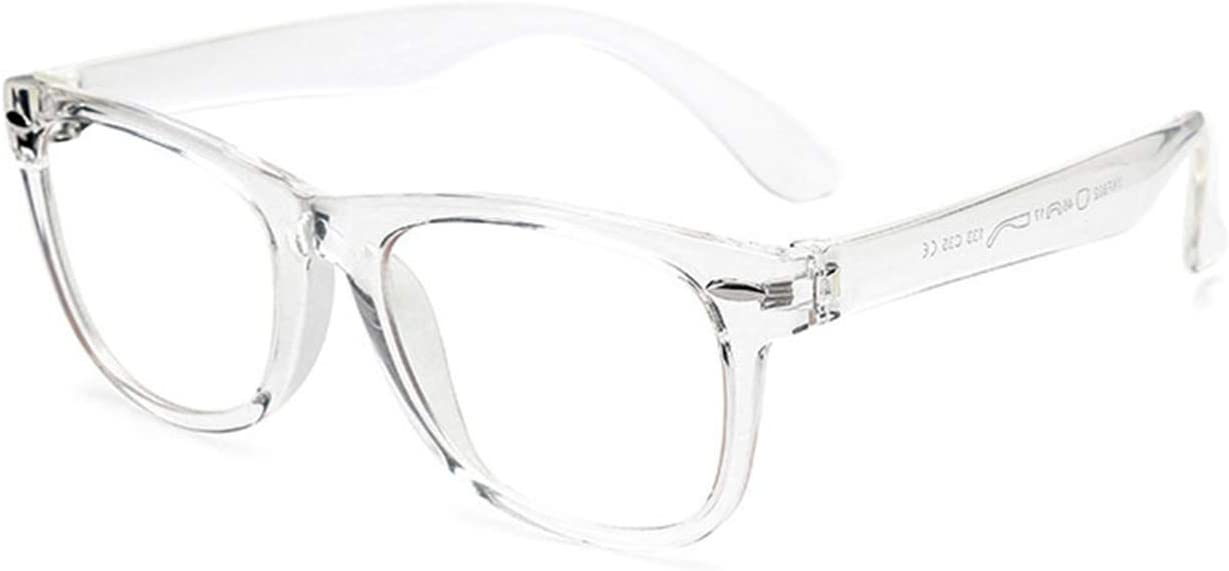 MAXJULI Kids Blue Light Blocking Glasses - Video Computer Gaming Eyeglasses for Boys & Girls - TR90 Square Flexible Eye Glasses Age 3-10 (Clear)