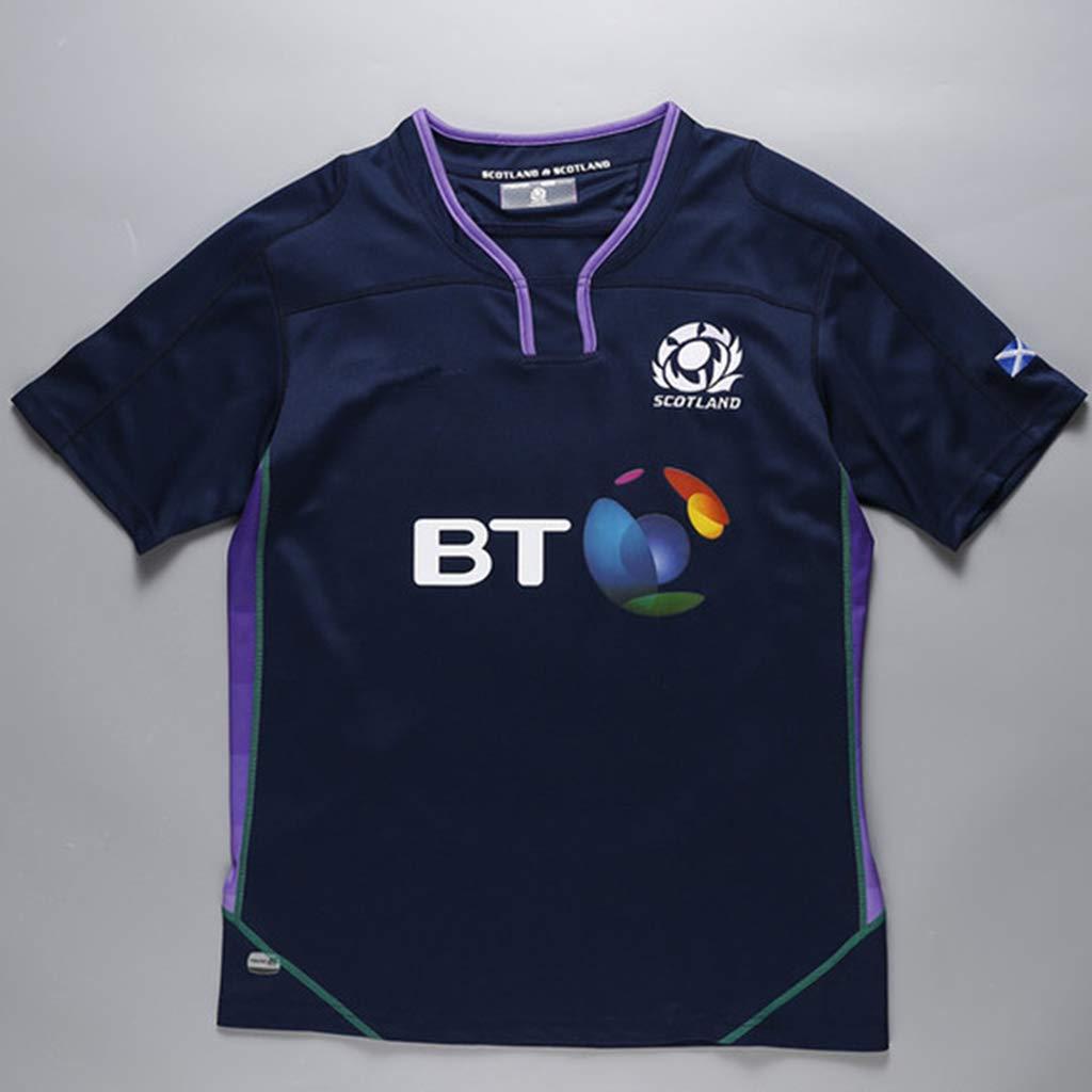 K-Flame Jerseys Camiseta para fanáticos Escocia casa Rugby Jersey ...