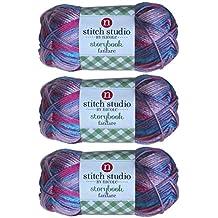 Stitch Studio Yarn by Nicole, Storybook Fanfare (3 Skeins) Firework Purple