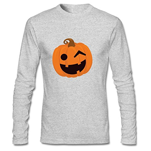 [Wernnjesw Stop Staring At My Pumpkins Costume Funny Novelty Sarcastic Halloween Men Long Shirt Autumn Winter Shirt S Gray] (Cheap Offensive Halloween Costume Ideas)