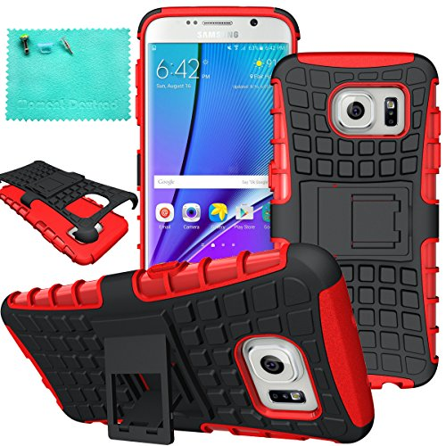 Galaxy S7 Edge Case,Samsung Galaxy S7 Edge Case,Moment Dextrad Dual Layer Defender with Kickstand Protection Case for Samsung Galaxy S7 Edge (2016) (Red) for $<!--$4.99-->