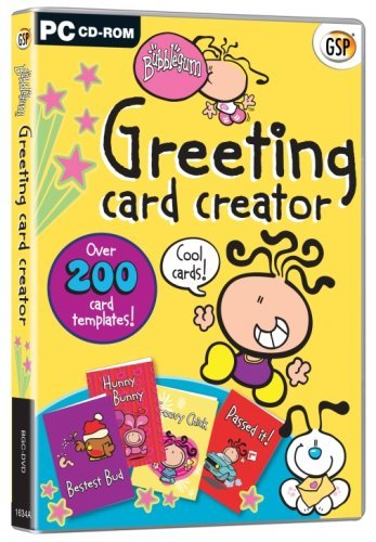 Bubblegum Greeting Card Creator (PC-CD) Over 200 card templates! by Bubblegum & Carlton Cards Ltd