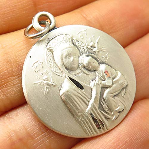 Vintage Signed 925 Sterling Silver St. Mary & Baby Jesus Religious Charm Pendant by Wholesale Charms