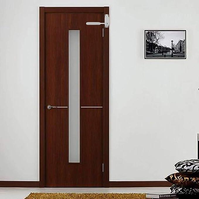 Cierre de puerta/puerta montado en superficie, resistente al fuego, con resorte, ajustable, 2 colores As show blanco: Amazon.es: Hogar