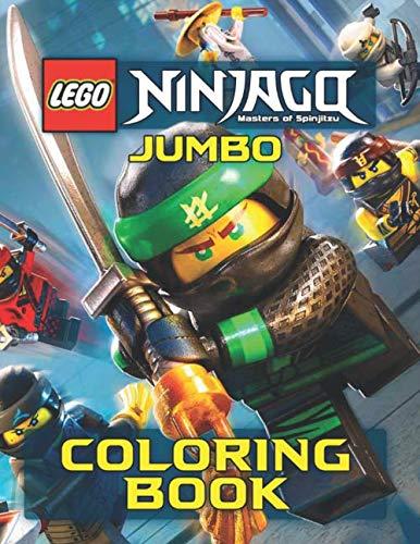 LEGO NINJAGO JUMBO Coloring Book: 48 Awesome Illustrations for Kids