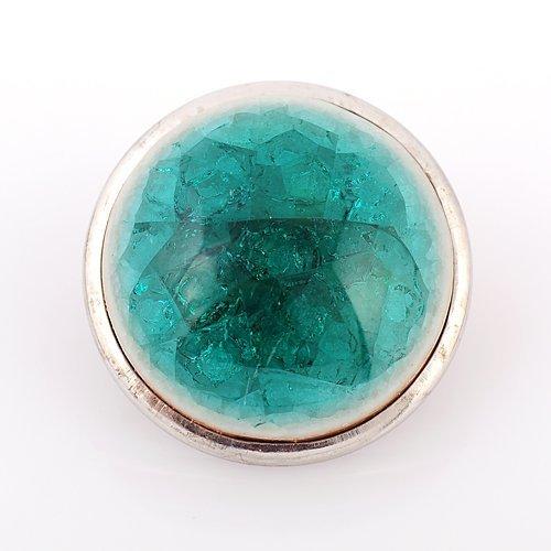Andante bouton pression CHUNK en céramique (cyan-bleu) pour bracelets Chunk, bagues Chunk et autres accessoires Chunk