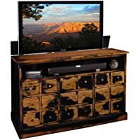 TV Lift Cabinet for 40-60 inch Flat Screens (Weathered Black) AT006380