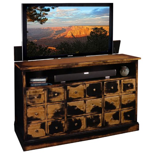 TV Lift Cabinet for 40-60 inch Flat Screens (Weathered Black) AT006380 by TVLIFTCABINET, Inc