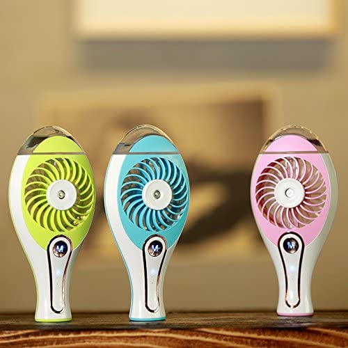 CYNDIE Mini Fans Handheld Misting 1201mAh USB Rechargeable Portable Desktop Fan with Cool Humidifier
