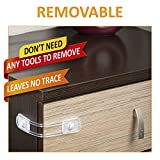 removable door lock - Baby Safety Cabinet Locks - Removable All-Purpose Flexible - Leaves No Trace After Remove From Your Furniture - Use For Cabinets, Drawers, Appliances, Cabinet Doors, Fridge And Oven - 【 2pcs】