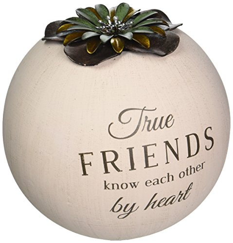 Pavilion Gift Company 19010 Light Your Way Terra Cotta Candle Holder, Friend, 5-Inch