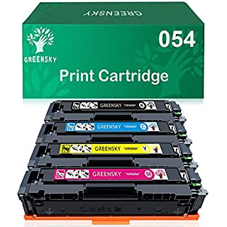 GREENSKY Compatible Toner Cartridge Replacement for Canon 054 CRG-054 054H to use with Canon Color ImageClass LBP622Cdw Canon Color ImageClass MF644Cdw MF642Cdw Printer (4 Pack)