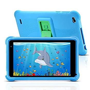 qunyiCO 7 inch Youngsters Pill 32GB Android 10.0 WiFi Digital camera Bluetooth 2GB RAM HD Contact Display screen 1024×600 Child-Proof Case Parental Management Studying App on Google Licensed Playstore Blue