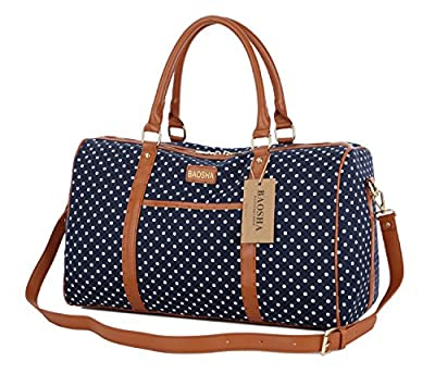 BAOSHA HB-25 Cute Lady Women Canvas Travel Bag Weekender Overnight Bag Carry-on Duffel Tote Bag