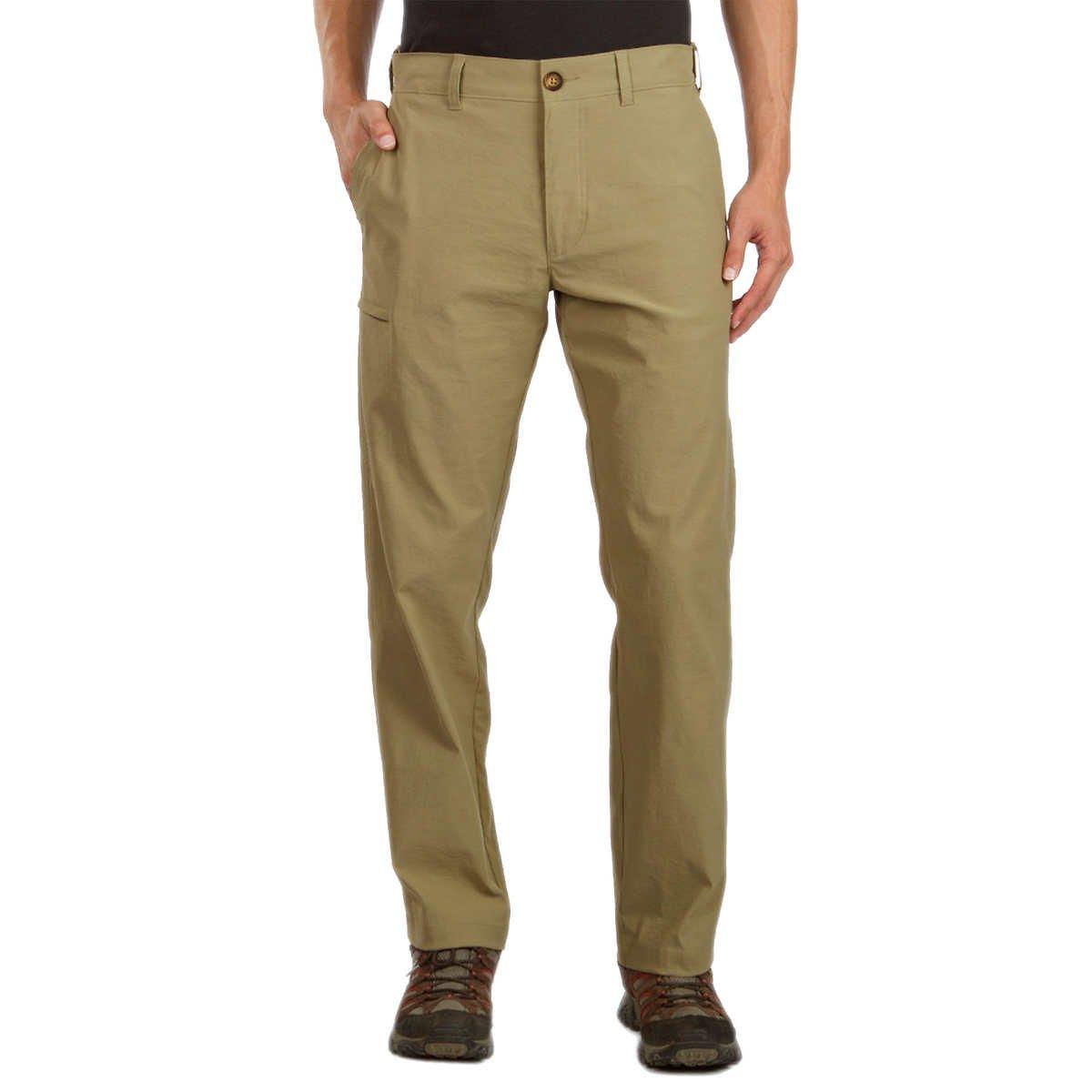 UNIONBAY UB Tech Classic Fit Expandable Comfort Waist Chino Pant for Men (36W x 34L, Desert)