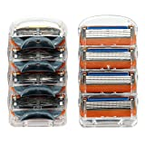 Zlice Manual Men's Replacement Razor Blade Refills Compatible for Gillette (8 Count)