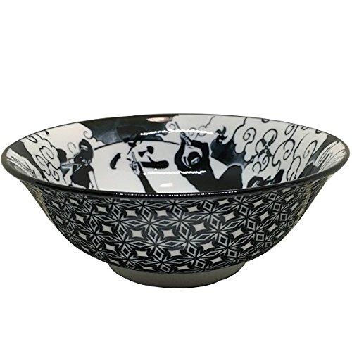 Ninja 6.8 Dim Size Ramen Bowl(2 Pieces Sets) (Black) Kanehase Noda Co. Ltd.