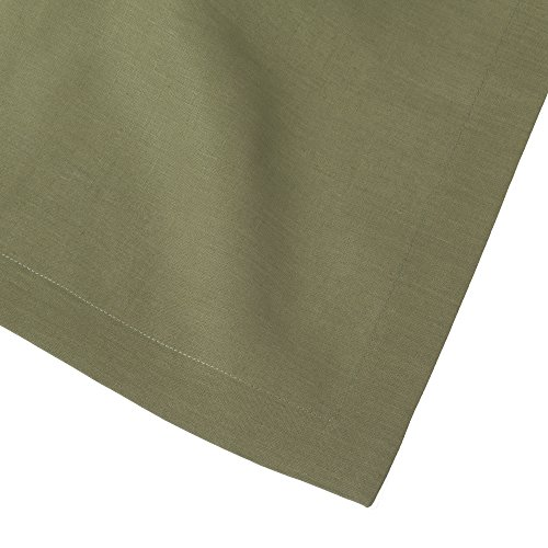 Sage Olive Green Pure Linen Placemat 15x20 (Set of Six) by Huddleson Linens (Image #1)
