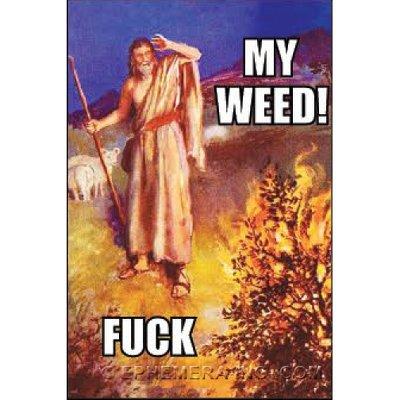 Ephemera Magnet - My weed! FUCK - RECTANGLE MAGNET