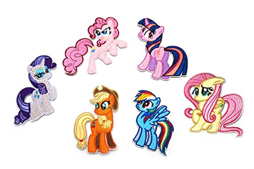 6 Packs My Pony Iron-on Applique