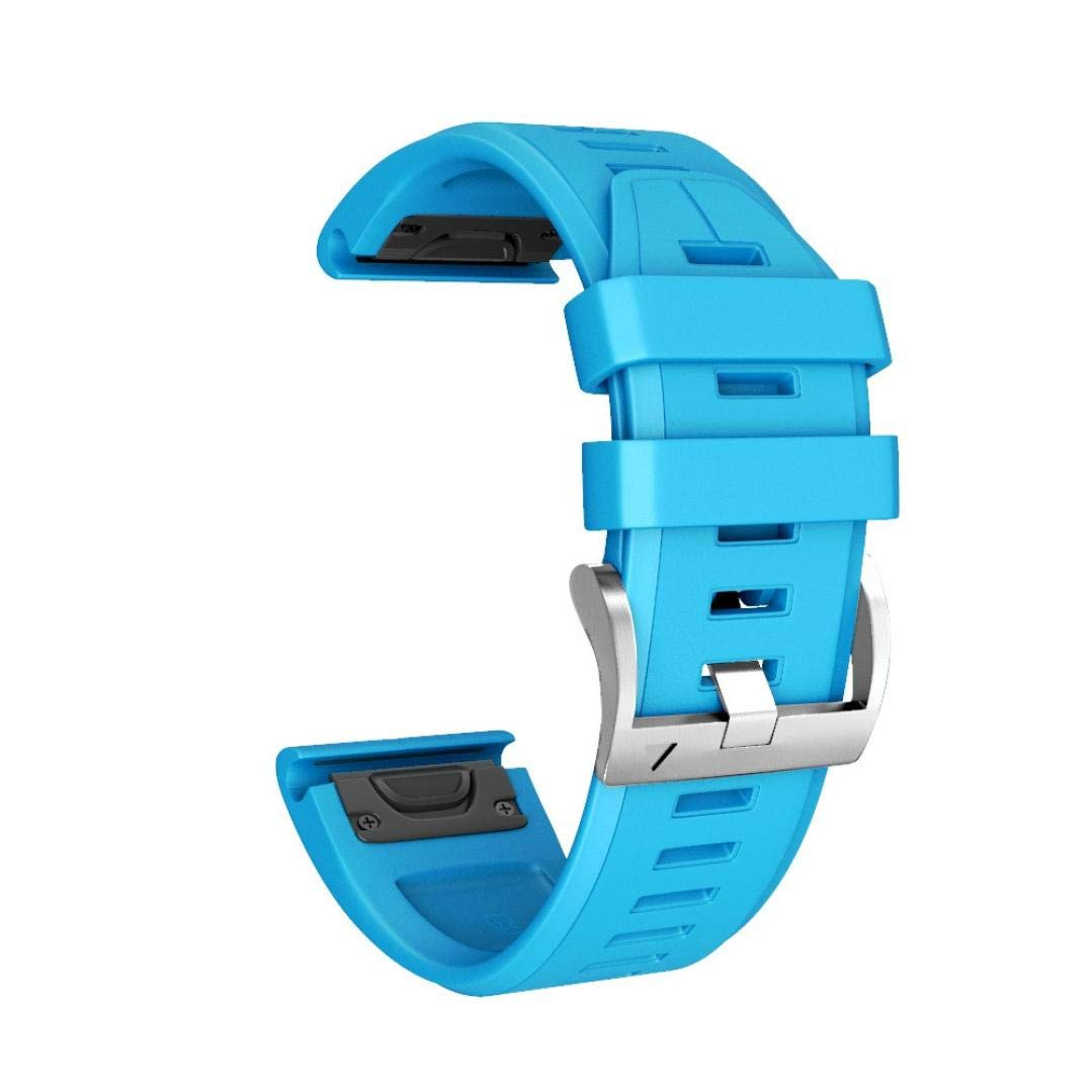 Transer Armband Für Garmin Fenix 5 Plus/Strap Armband Armband Ersatz Silikon Uhrenarmband Quick Release Easy Fit (Dark Blue) Transer® W987049680