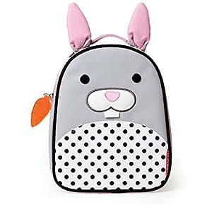 Skip Hop Zoo Kids Insulated Lunch Box, Bunny, Grey