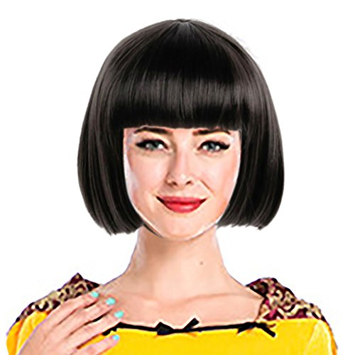 's Fashion 20's Flapper Wig Black Adult Party Accessories Short Bob Hair ()