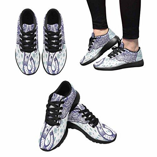 Interesse Per Le Donne Jogging Running Sneaker Leggero Easy Walking Casual Comfort Running Scarpe Bohemian Elephant Paisley Ornament Multi 1