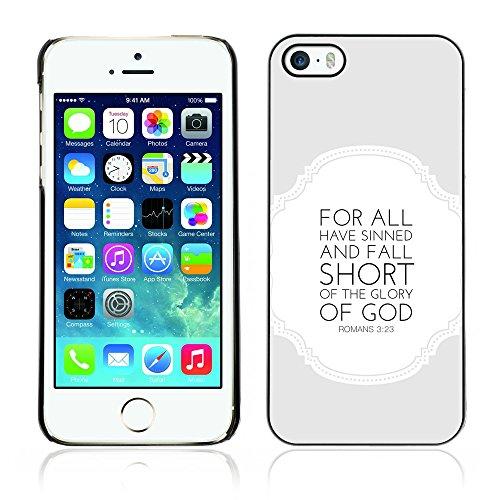 DREAMCASE Citation de Bible Coque de Protection Image Rigide Etui solide Housse T¨¦l¨¦phone Case Pour APPLE IPHONE 5 / 5S - ROMANS 3:23 GLORY OF THE GOD