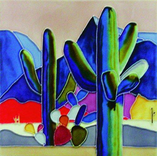 Big Cactus - Decorative Ceramic Art Tile - 8