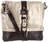 Latico Women's Vickie 8525 Cross Body,Metallic Gray/Black,One Size, Bags Central