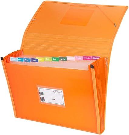 Grafoplás 02963052-Carpeta separadora, tamaño folio, color naranja: Amazon.es: Oficina y papelería