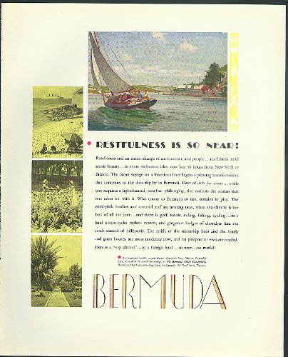 Restfulness is so near! Bermuda Trade Development tourism ad ()